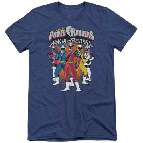 Power Rangers Ninja Steel Lineup Super Soft Tri Blend T-Shirt - Generation T