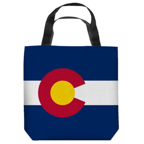 TColorado Flag Sublimation Tote Bag Lightweight All Sizes
