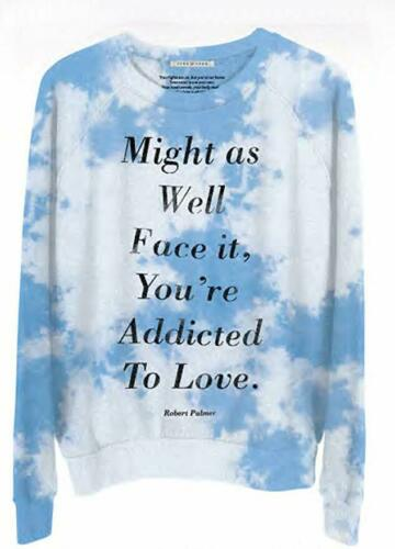 Womens Junk Food Clothing Addicted to Love Skyrocket Pullover Tie Dye