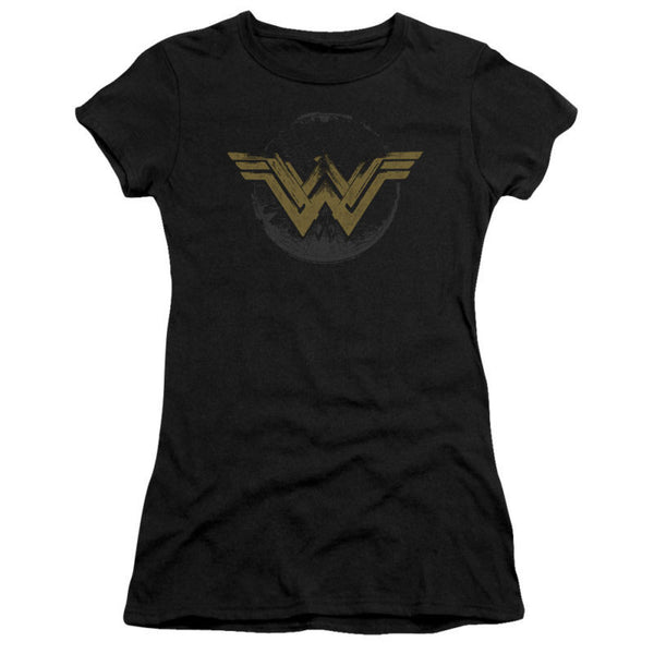 Wonder Woman Movie Distressed Logo Juniors T-Shirt
