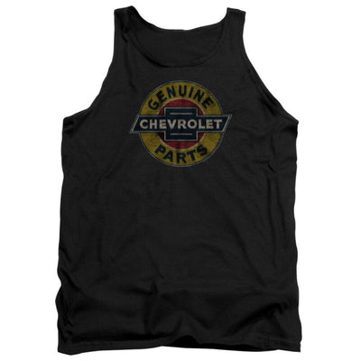 Mens Genuine Chevy Parts Distressed Sign Tank Top