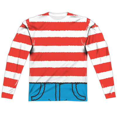 Where's Waldo Costume Long Sleeve Sublimation Shirt - Generation T