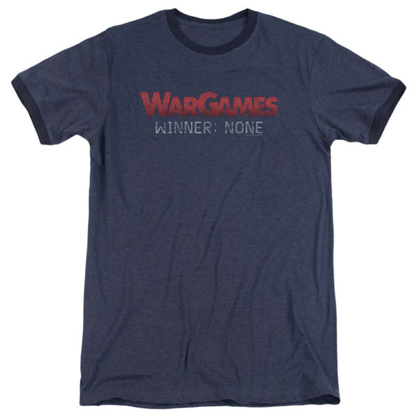 Mens War Games Winner None Retro Ringer T-Shirt - Generation T