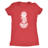 Philly Baseball Inspired Vintage Bobblehead Ladies Tri Blend - Generation T