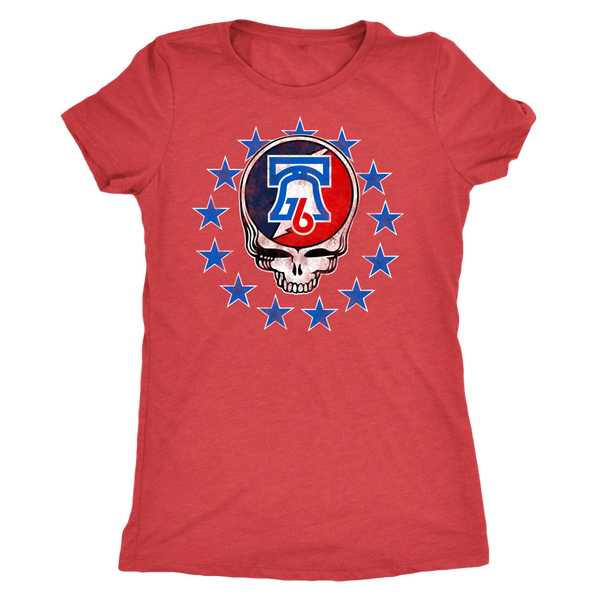 Stealadelphia Hoops Ladies Tri Blend Tee Shirt
