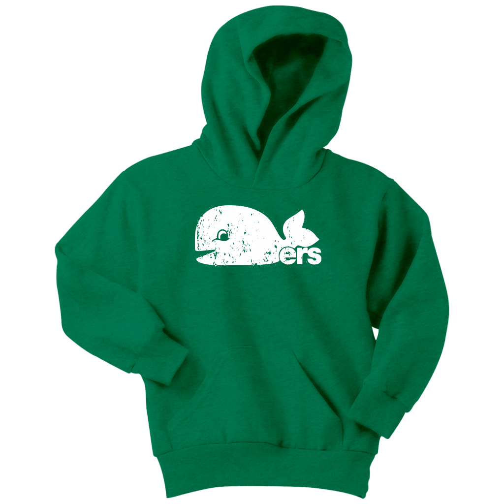 Hartford Whalers Pucky Inspired Pullover Hoodie in Green