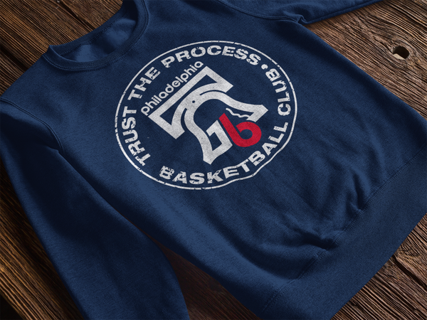 Trust the Process Hoops Club Royal Pullover Sweatshirt