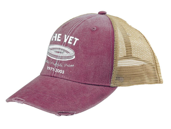 The Vet Baseball Edition Retro Distressed Mesh Back Hat - Generation T