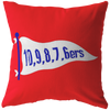 6ers Red Pillow