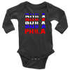 PHILA BASKETBALL INFANT LONG SLEEVE BODYSUIT