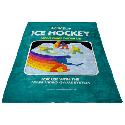 Retro Activision Hockey Inspired Blanket