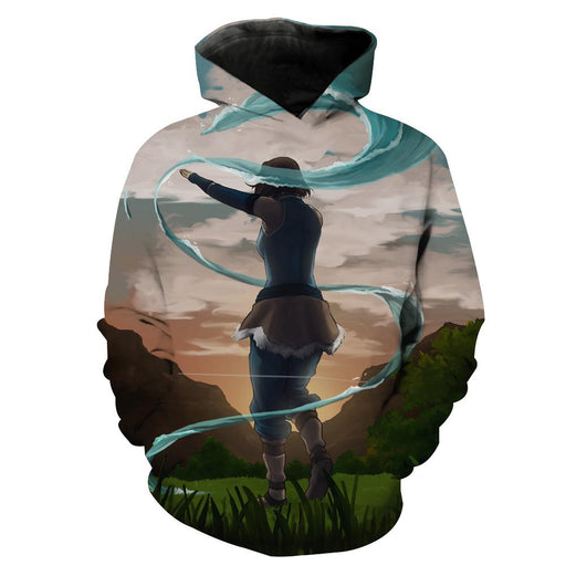 Water Bending Hoodie - Avatar The Last Airbender Water Bending