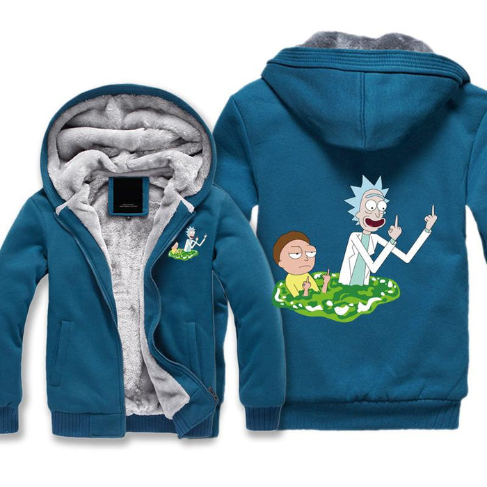 Rick and Morty Jacket - Peace Among Worlds Jacket Fleece