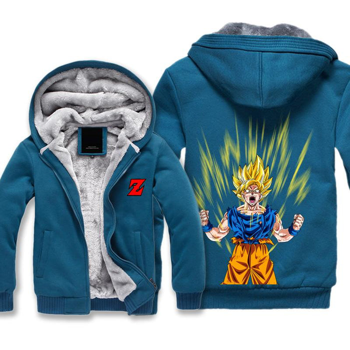 Super Saiyan Goku Jacket - Dragon Ball Z Jackets Fleece