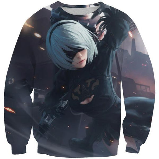 Artistic Nier Sweatshirt - Nier Video Gaming Clothes
