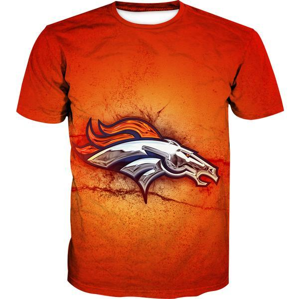 Denver Broncos T-Shirt - Football Logo Broncos Clothing