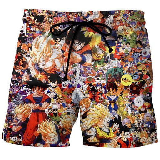 Dragon Ball All Characters Board Shorts - DBZ Clothing and Shorts