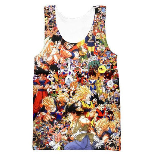 Dragon Ball All Characters Tank Top - DBZ Clothing and Gym Shirts