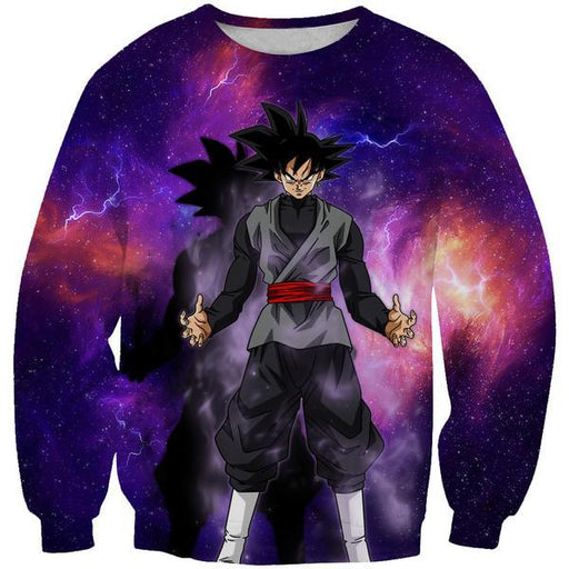 Goku Black Space Sweatshirt - Dragon Ball Super Sweaters