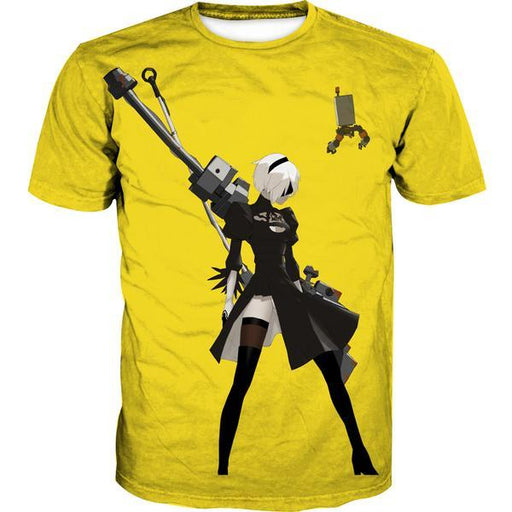 Nier Automata Yellow T-Shirt - Video Game Clothes