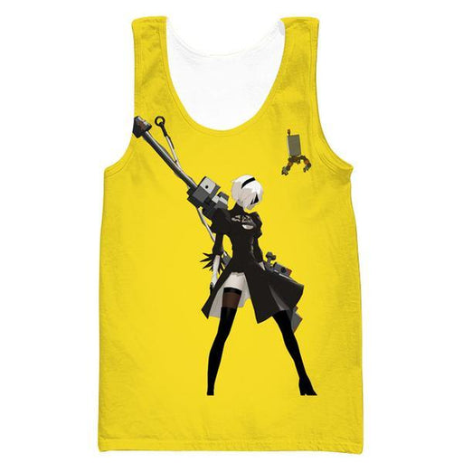 Nier Automata Yellow Tank Top - Video Game Clothes