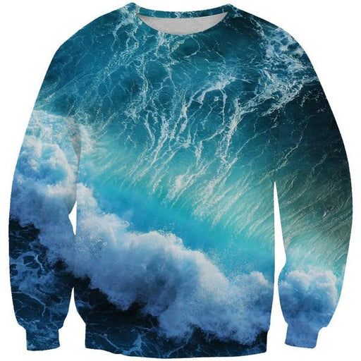Ocean Storm Sweatshirt - Epic Printed Clothes