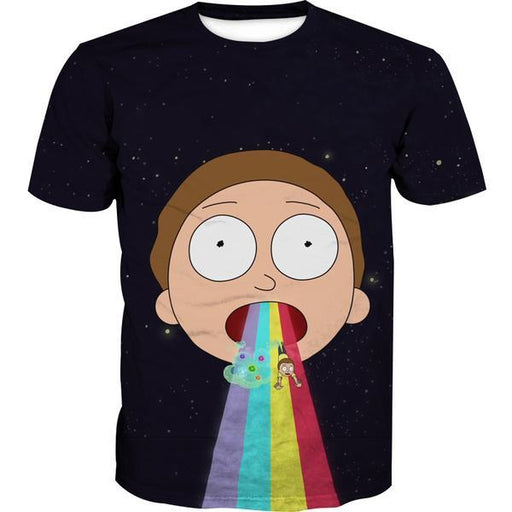 Rick and Morty Clothing - Morty Rainbow T-Shirt