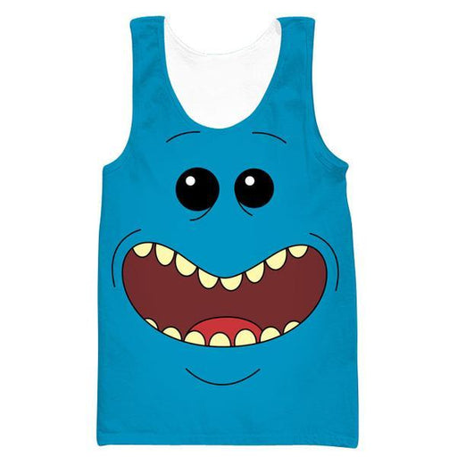 Rick and Morty Mr Meeseeks Face Tank Top - Mr. Meeseeks Clothes