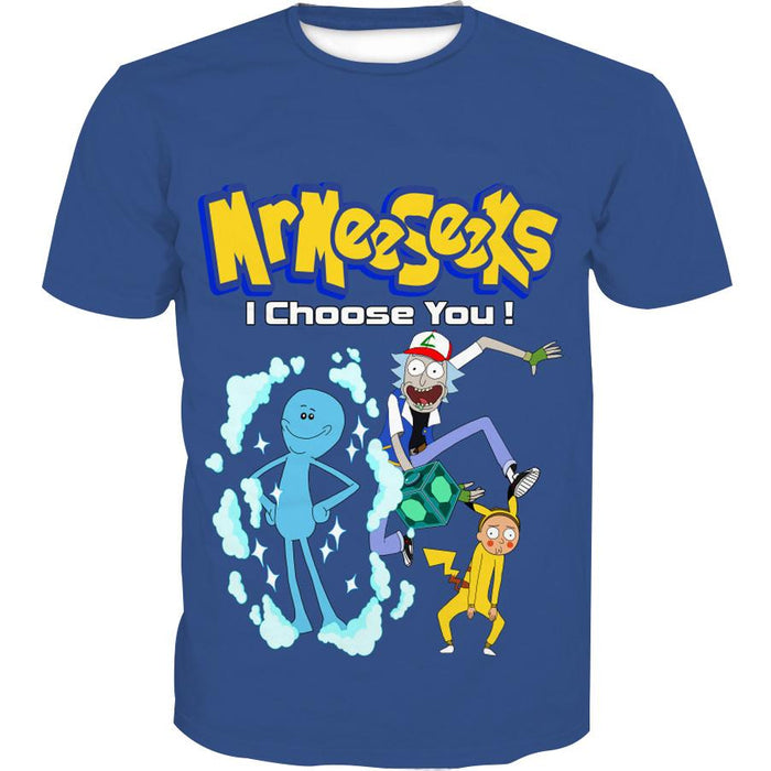 Rick and Morty Pokemon Meeseeks clothes