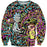 Rick and Morty Trippy Acid Sweatshirt - Trip Cartoon Clothing