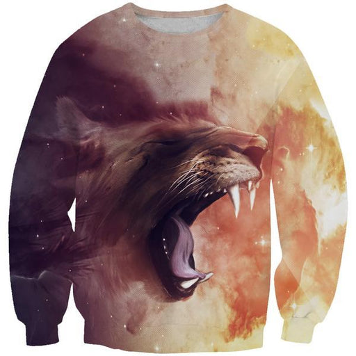 Saber Tooth Tiger Sweatshirt - Epic Tiger Clothes