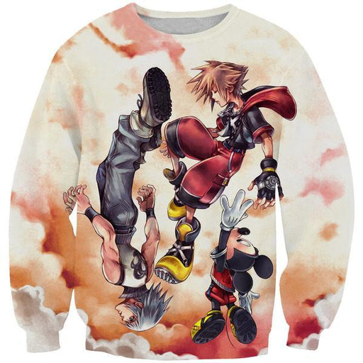 Sora and Riku Sweatshirt - Kingdom Hearts Clothing
