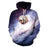 Astronaut Sloth Galaxy Hoodie Pullover - Animal Space Hoodies