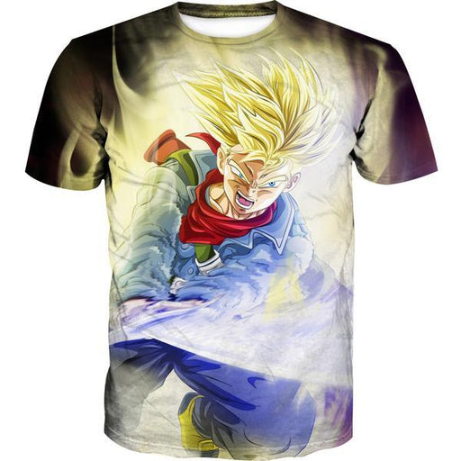 Super Saiyan Trunks Sword T-Shirt - Dragon Ball Super Trunks Clothing