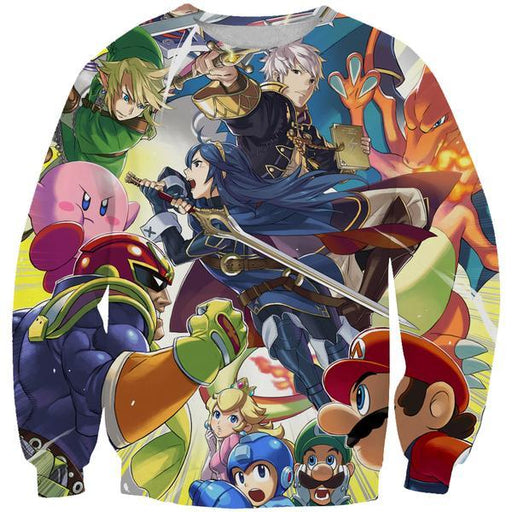 Super Smash Bros Sweatshirt - Video Game Clothing