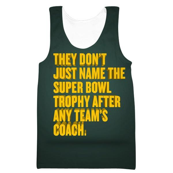 Superbowl Packers Trophy Tank Top - Funny Football Gym Shirts
