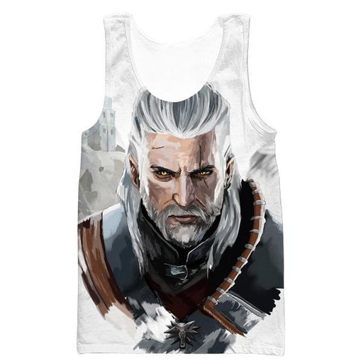 The Witcher Tank Top - Geralt Face Hoodie and Clothing