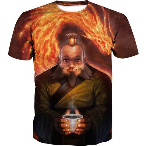 Uncle Iroh T-Shirt - Avatar the Last Airbender Uncle Iroh Clothes