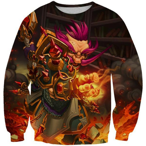 Warcraft Gnome Sweatshirt - Pink Hair Gnome Fantasy Clothes