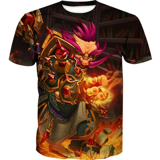 Warcraft Gnome T-Shirt - Pink Hair Gnome Fantasy Clothes