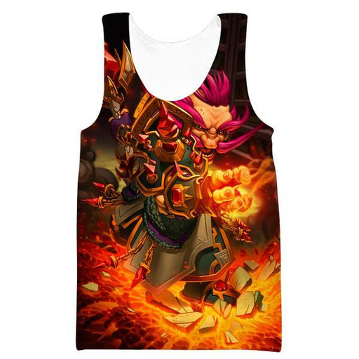 Warcraft Gnome Tank Top - Pink Hair Gnome Fantasy Clothes