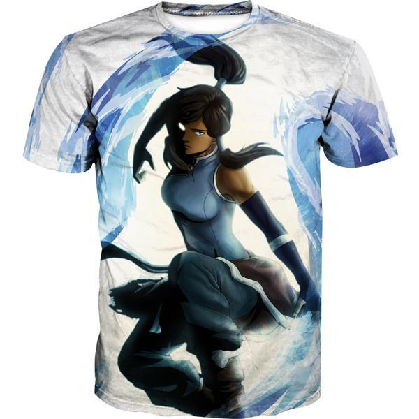 Water Bending Korra T-Shirt - Avatar Legend of Korra Clothing