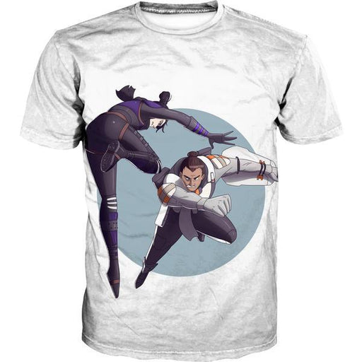 Wraith vs Gibralter Apex Legends T-Shirt - Apex Legends Clothing
