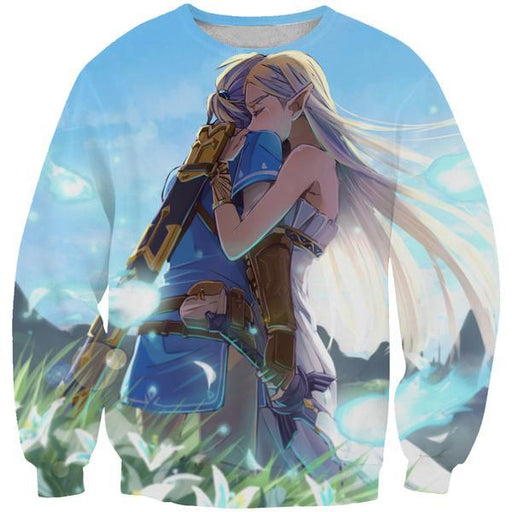 Zelda and Link Sweatshirt - Cute Video Game Clothing