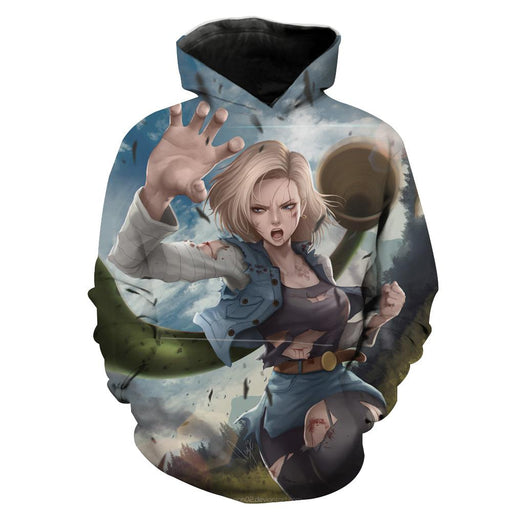 Android 18 Hoodie -  Android 18 Dragon Ball Z Clothing