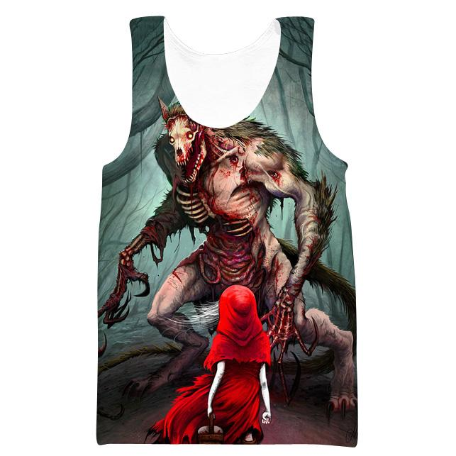 Red Riding Hood and Wolf T-Shirt - Printed Clothes