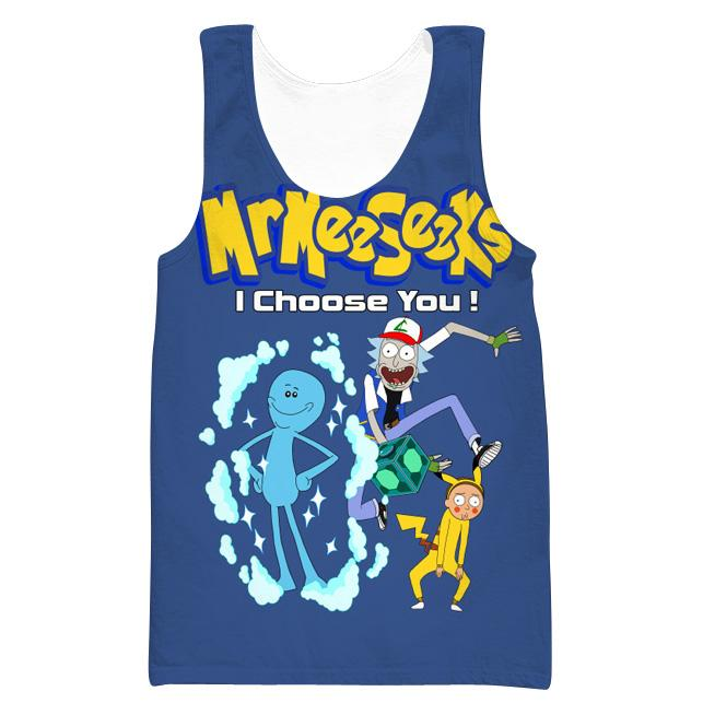 Rick and Morty Pokemon Tank Top - Rick and Morty x Pokemon Clothes