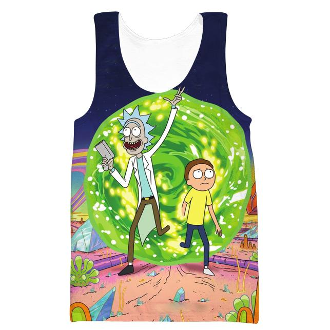 Rick and Morty Portal Hooded Tank - Rick and Morty Clothing