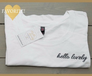 Bright White Hello Lovely Shirt