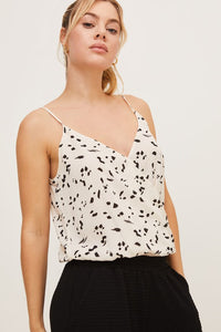 Printed Surplice Bodysuit